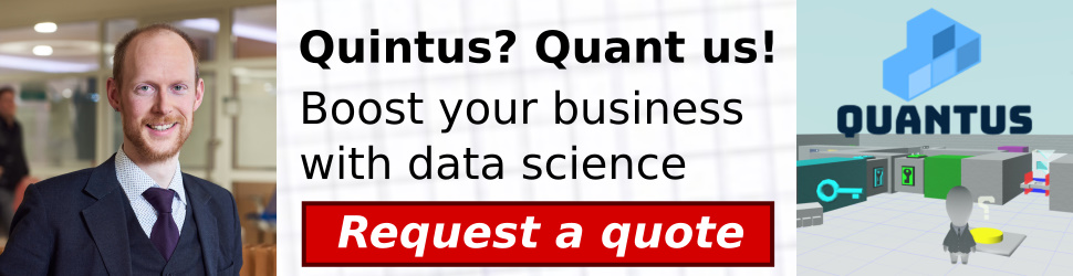 Quintus? Quant us! Boost your business with data science. [Request a quote]